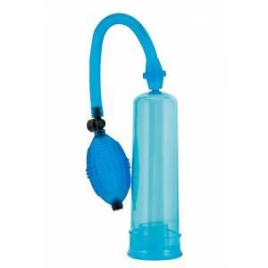 Помпа 20 см, синия (в комплекте набор эрекционных колец, лубрикант)