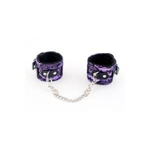 Кружевные наручники пурпурные