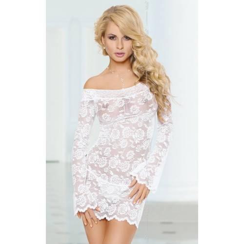 Ночная сорочка с рукавами Lamia белая-S/M