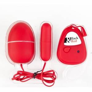 Вибронабор с пультом ДУ,5 режимов вибрации, красный