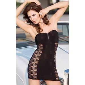 Платье черное с прозрачной вставкой, размер М