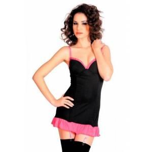 Платье с пажами и стринги черно-розовые-S/L