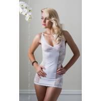 Ночная сорочка, стринги и перчатки Evie белые-M/L