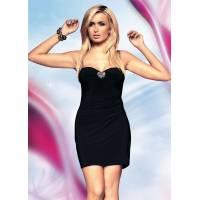 Платье черное с прозрачной вставкой S/M