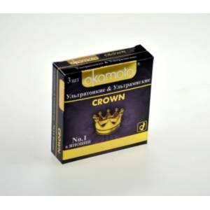 Презервативы OKAMOTO Crown №3 ультра тонкие и ультра мягкие