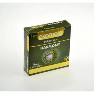 Презервативы OKAMOTO Harmony №3 Ребристые