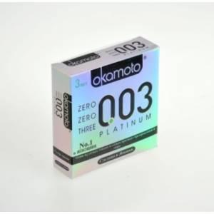 Презервативы OKAMOTO Platinum №3 Супер тонкие, с накопителем