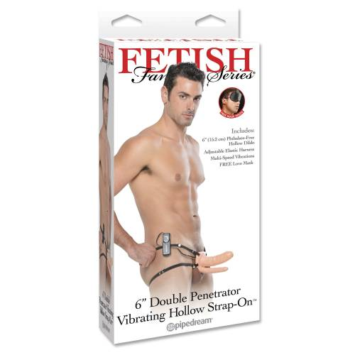 Страпон FF VIBRATING DOUBLE PENETRATOR FLESH