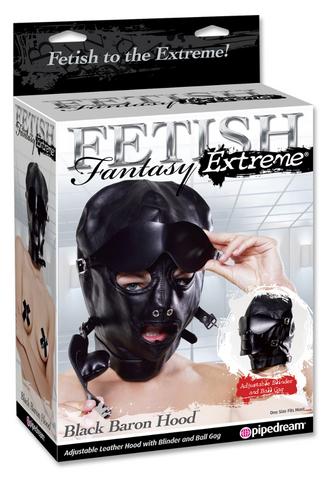 Шлем FF EXTREME BLACK BARON HOOD