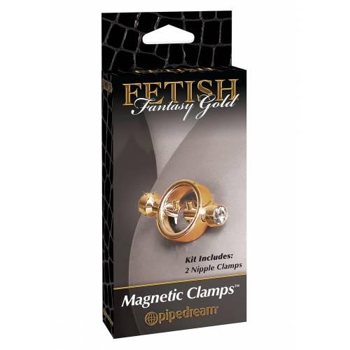 Зажимы для сосков GOLD MAGNETIC NIPPLE CLAMPS