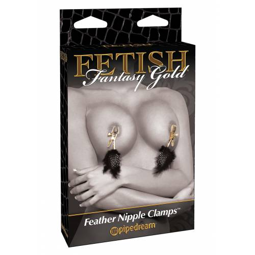 Стимулятор GOLD DELUXE FEATHER CLAMPS