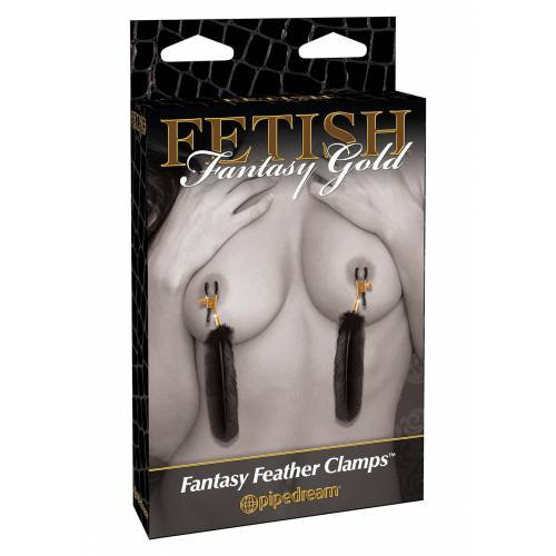 Стимулятор FF GOLD FEATHER NIPPLE CLAMPS