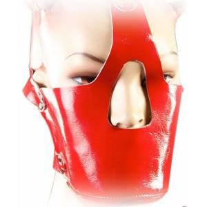 Намордник, красный, лакированный