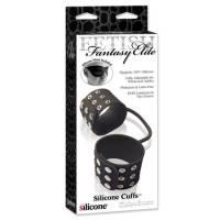 Силиконовые наручники   ELITE - SILICONE CU S BLACK
