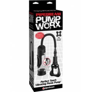Вакуумная помпа Perfect Touch Vibrating Penis Pump мужская с вибрацией и подушечкой для дополнительной стимуляции