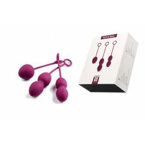 Вагинальные шарики со смещенным центром тяжести Nova Ball фиолетовые