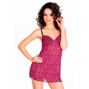 Ночная сорочка и стринги розовые-S/L