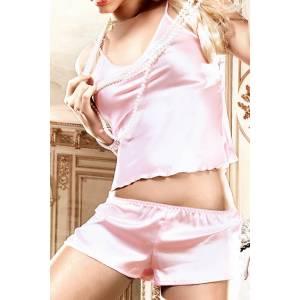 Back in Heaven Комплект розовый из сатиновой маечки с шортиками