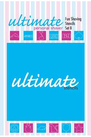Набор трафаретов для интимной стрижки Fun Shaving Stencils - Set B