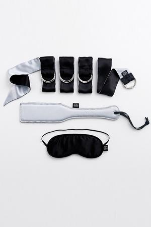 Набор фетиш-аксессуаров First Time Bondage Kit черный с серым