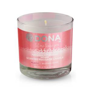Массажная свеча DONA Scented Massage Candle Flirty Aroma: Blushing Berry 135 г