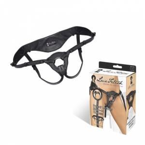 Трусики для страпона Patent Leather Strap-On Harness, черная кожа