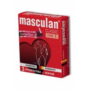 Masculan Classic 1,  3 шт *16.  Нежные