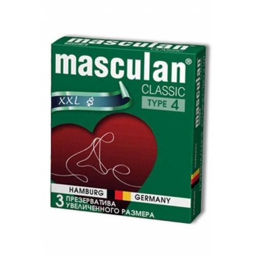 Masculan Classic 4,  3 шт *16.  Увеличенного размера