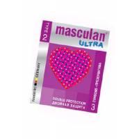 Презервативы Masculan Ultra 2, 3 шт, *16 Double Protection-CD