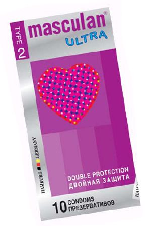 Masculan Ultra 2, 10 шт, *10 Double Protection-CD