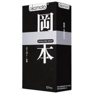 Презервативы OKAMOTO Skinless Skin Super с двойной смазкой и ароматом ванили №10