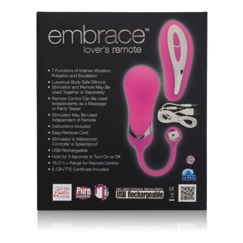 Вибро-яйцо EMBRACE LOVERS REMOTE с дистанционным пультом розовое
