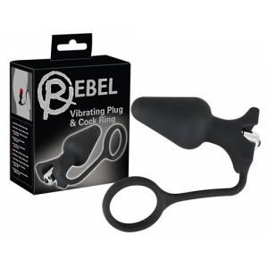 Анальная втулка с кольцом для пениса Rebel