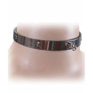 Ошейник с кольцами, металлический, ширина 12 мм, размер универсальный