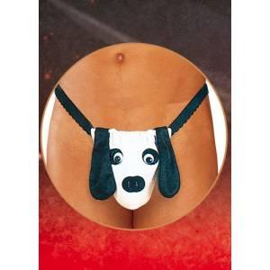 Стринги мужские Собака черно-белые-S/L