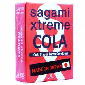 Презервативы SAGAMI Energy 3шт. ультратонкие со вкусом энергетического напитка