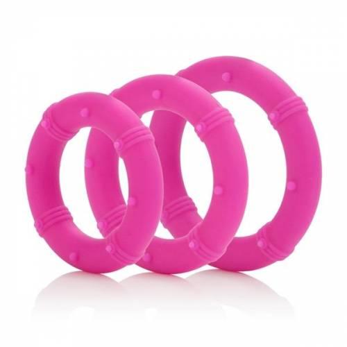 Набор эрекционных колец Posh Silicone Love Rings розовый
