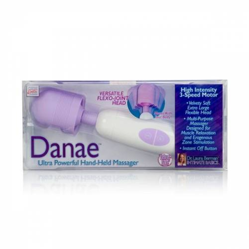Вибратор  Danae Ultra Powerful Hand Held Massger белый с фиолетовым